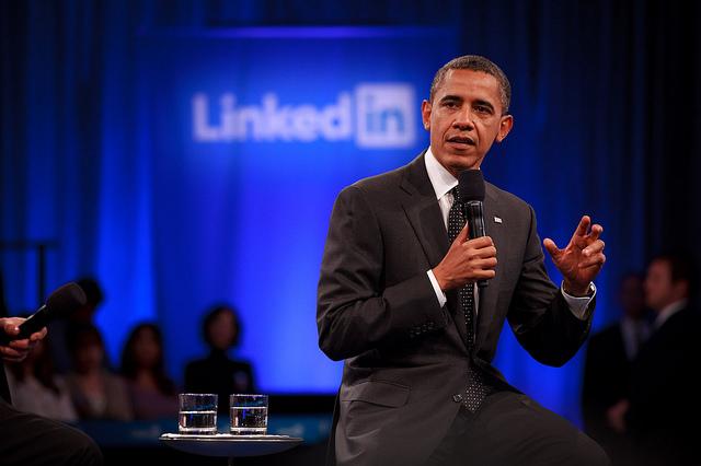 Obama nella sede di LinkedIn (2011)
