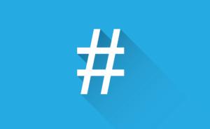 hashtag simbolo