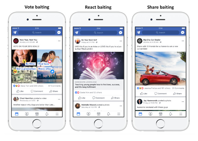 Fighting Engagement Bait on Facebook. Fonte: https://newsroom.fb.com/