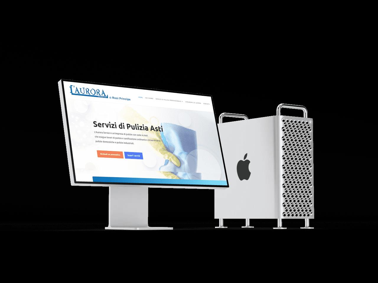 desktop sito aurora servizi