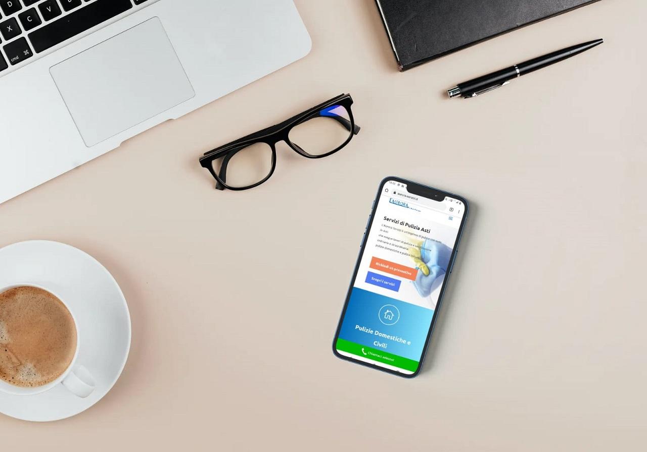 mobile sito aurora servizi