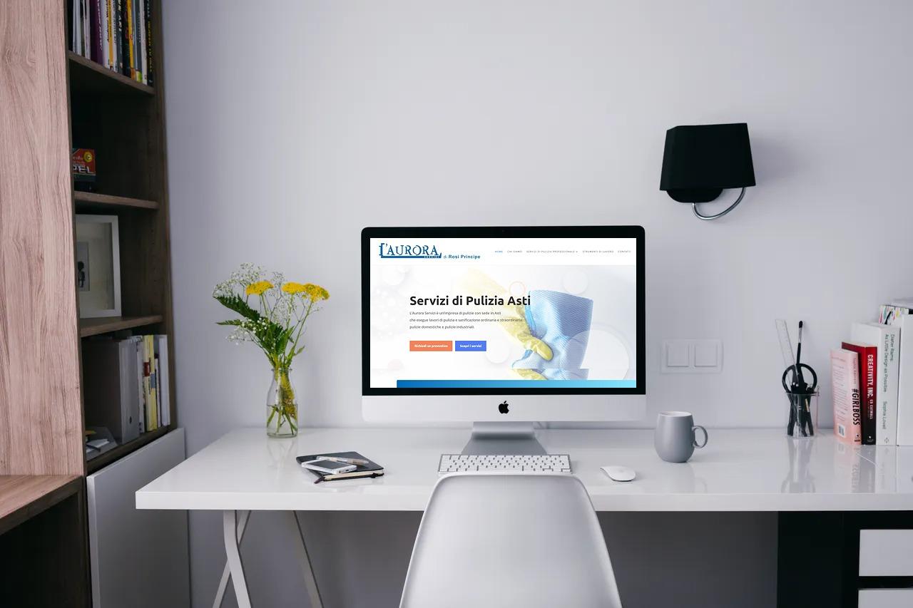 mockup scrivania sito aurora servizi